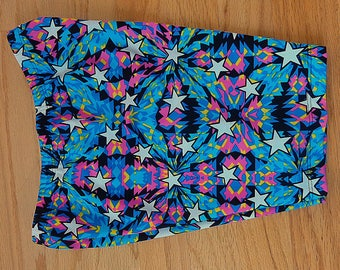 Girls active wear,yoga,dance Biker shorts,kaleidoscope of stars,day of the dead biker shorts
