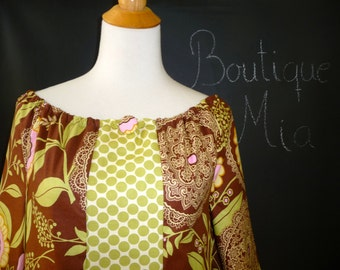 Boatneck DRESS or TOP - Amy Butler - Made in any Size - Boutique Mia by CXV