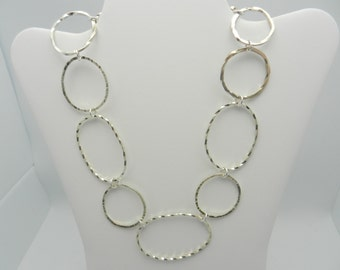 Chunky sterling necklace