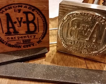 Customized Wood Branding Iron for your Projects -- Made in Trenton, Ohio USA