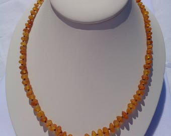 Amber Necklace, Raw Baltic Amber Necklace For Adults, HONEY Amber Beads, Healing Amber for Pain Relief, Headache, Back Pain, Reduce Swelling
