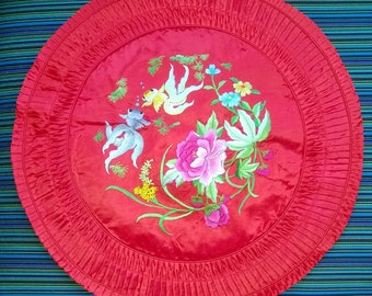 Beautiful vintage silk cushion covers from Suzhou embroidery factory