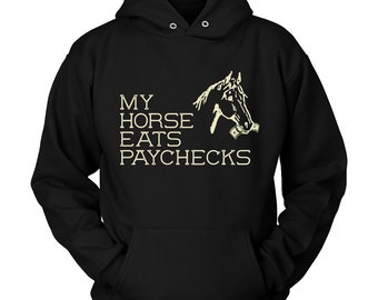 Horse Hoodie / horse shirt / gift for horse lover / horse clothing / equestrian gift / funny horse clothes / womens hoody / Horse Apparel /