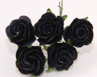 Black Open Roses Or111