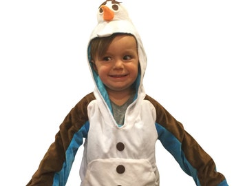 ComfyCamper Super Comfy Halloween Costume Snowman Costume Olaf Hoodie Sweatshirt Halloween Costume (act out Frozen adventures!)