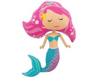 Mermaid Balloon - Jumbo Mylar Under the Sea Party