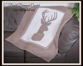 Deerly Beloved Deer Afghan Throw - In Stock Ready to Ship!