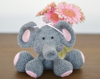 Elephant Crochet Pattern. Ellie The Elephant Amigurumi Crochet Pattern. Cute Elephant Amigurumi. Elephant Downloadable PDF Crochet Pattern