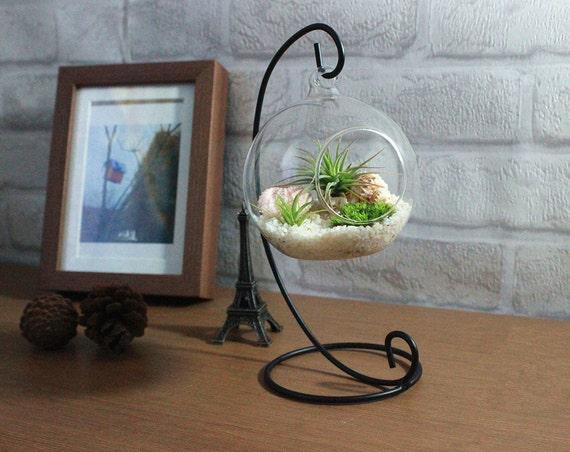 Home decoration office desk decor terrarium kit with quartz