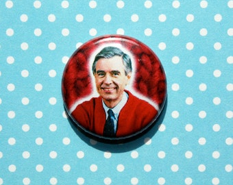 Mister Rogers- One Inch Pinback Button Magnet