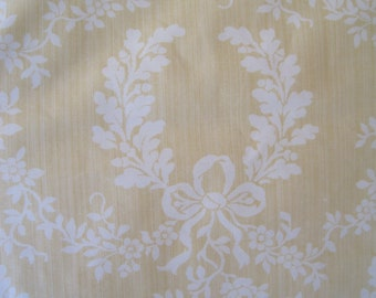 Home Decor Fabric Titley & Marr Evesham Printed in England 2.5Yards Cream on Buttercup Yellow