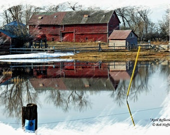 April Reflections- 8x12 Barnwood Framed