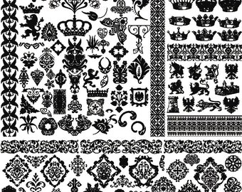 Royalty Symbols - Ceramic Decals- Enamel Decal - Fusible Decal - Glass Fusing Decal ~ Waterslide Decal - 9328783