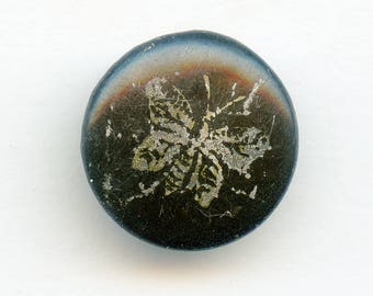 """Victorian Antique Victorian Etched Butterfly Button 11/16"""" Metal Pictorial Antique 5092"""