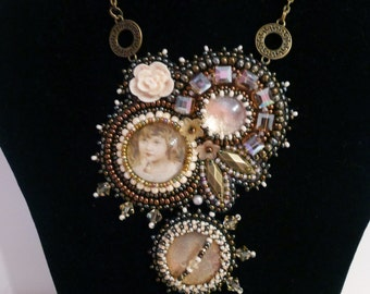 """beadembroidered necklace """"Childhood Dreams"""""""