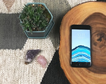 Aqua Geode Wallpaper for Android