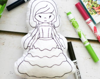 Princess Doll Coloring Book Gift For Girls