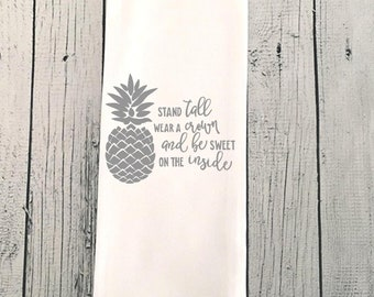 Pineapple towel, Pineapple dish towel, Dish Towel, Dish Towel, Kitchen Towel, farmhouse, cute gift, tea towel, decorative towel