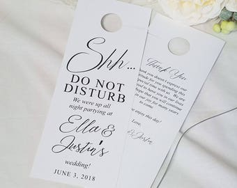 Wedding Do not disturb wedding door hangers, door hangers wedding, hotel door hangers, wedding sign, guest room hanger, greenery, RC18001