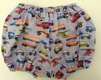 Blue Transport Baby Bloomers