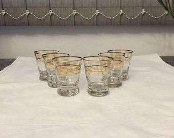 Vintage Shot Glasses, Vintage Barware, Vintage Glasses, Retro Shot Glasses, Bar Glasses, Drinking Glasses, Shot Glasses Set