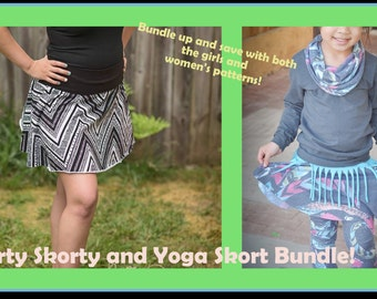 Sporty Skorty and Yoga Skort Mom and Me Bundle! Combine both patterns and save!!