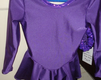 NEW made to order Girls ice figure skating practice dress sizes XS through XL (4 through 14)