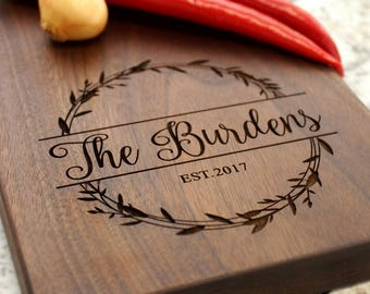 Personalized Cheese Board - Wooden Serving, Cheese Plate, Custom Cutting Board, Wedding Gift, Housewarming, Anniversary, Gift W-040 GB