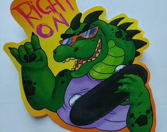 Cool Croc Sticker