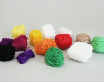 Fingering Embroidery Assorted Color Yarn