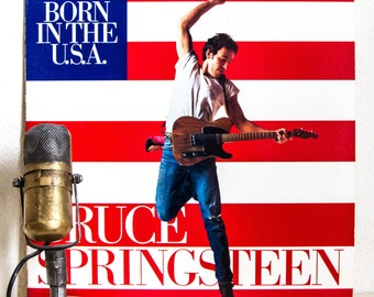 """12"""" inch Single Bruce Springsteen Vinyl Collectors Item 1985 Music Political Anit-War Message New Jersey Rock and Roll """"Born In The U.S.A."""""""