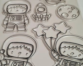 Space Birthday Clear Stamp Set