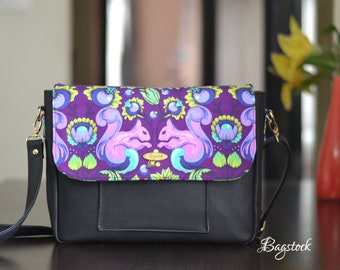 Starling Messenger Bag, PDF sewing pattern, Bagstock Designs