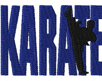 13 Karate Embroidery Design Files 4x4