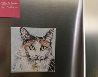 Framed 5x5 Pet Portrait - Custom