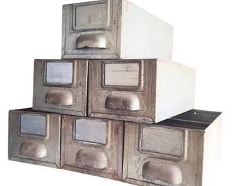 Vintage metal drawer furniture type of industrial