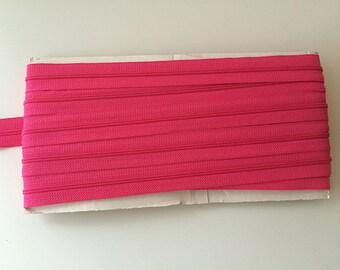 10 yards HOT PINK YKK Nylon Zipper chain 45CF 5/8 inch