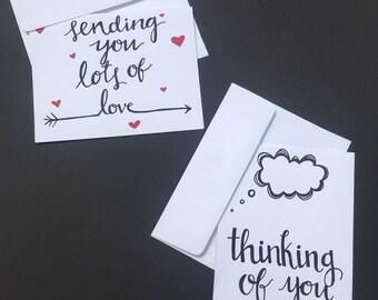 Handmade sweet sympathy cards- 2 pack