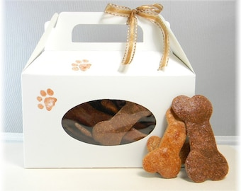 Dog Bones Peanut Butter Doggie Treats White Box Set