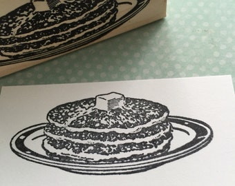 Stack of Pancakes Rubber Stamp 3771