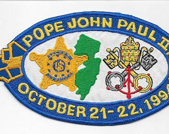 US Secret Service USSS New Jersey Pope John Paul II 1994 Visit Detail Cancelled due to Pope Injury