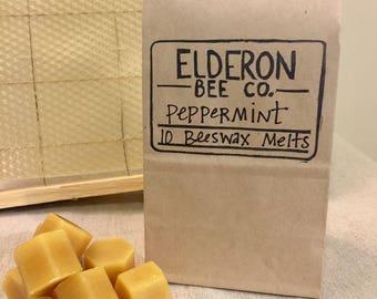 beeswax melts // 100% natural // handmade // peppermint // wax melts // aromatherapy