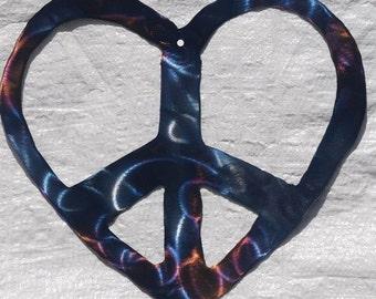 Peace Heart Metal Decoration