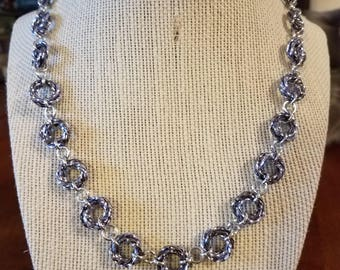 Rosette Chainmail Necklace