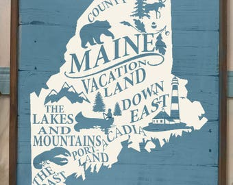 Maine Vacation Land  SVG ,PNG, JPEG
