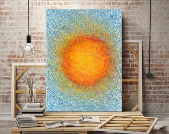 Speckled Sun - 11x14 Art Print - Original Abstract Painting by Enchanted Crayons