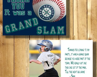 Seattle Mariners  4x6 Thank You Note Cards