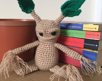 Harry Potter Mandrake Root Crochet Amigurumi