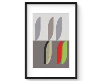 MODUS - VITALITY no.4 - Giclee Print - Mid Century Modern Danish Modern Minimalist Cubist Modernist Abstract Eames