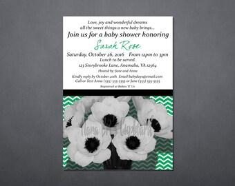 Green Cheveron Invite